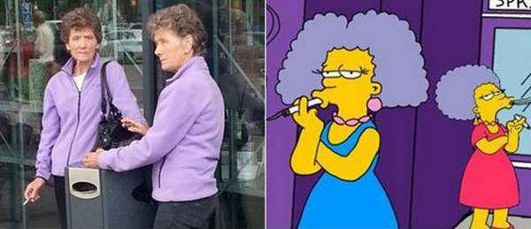 Gerçek Hayatta Simpsons Karekterleri