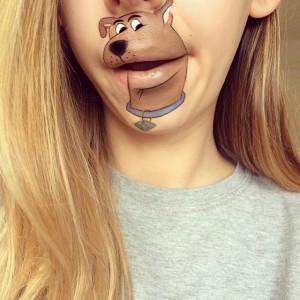 Dudağına Scooby dooby doo Çizen Kız
