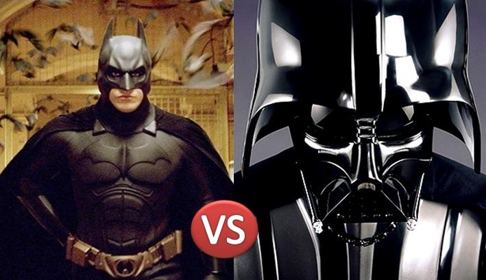 Batman Darth Vader'a karşı savaşı