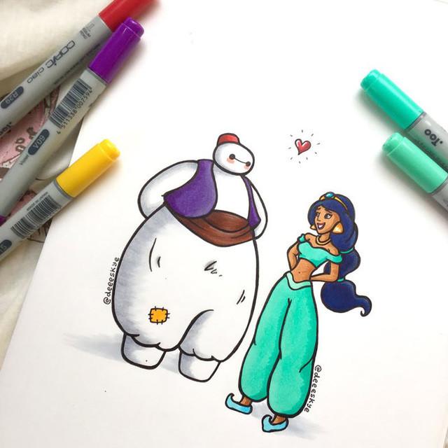 Big Hero 6 Renkli Kalem Çizimleri