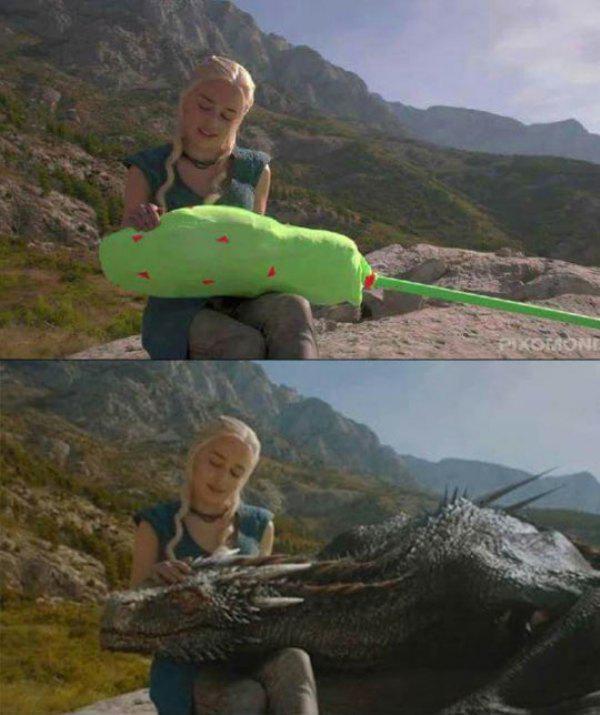 Daenerys Dragon setinden filmin nasıl çekildiği ile ilgili ip uçları.