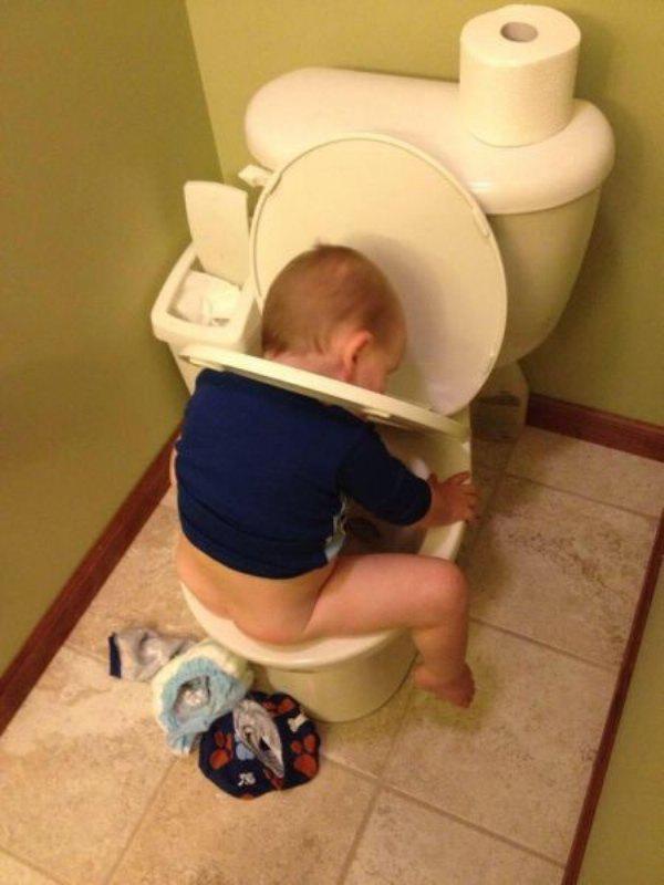 Bebeklerin tuvalette yaşadıkları problemler