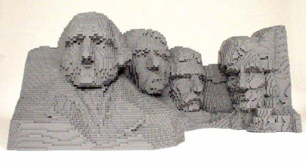 Lego'dan Mount Rushmore yapımı