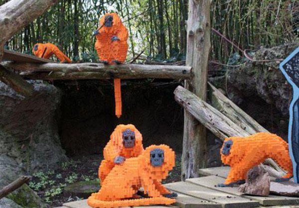 Lego'dan maymun yapımı