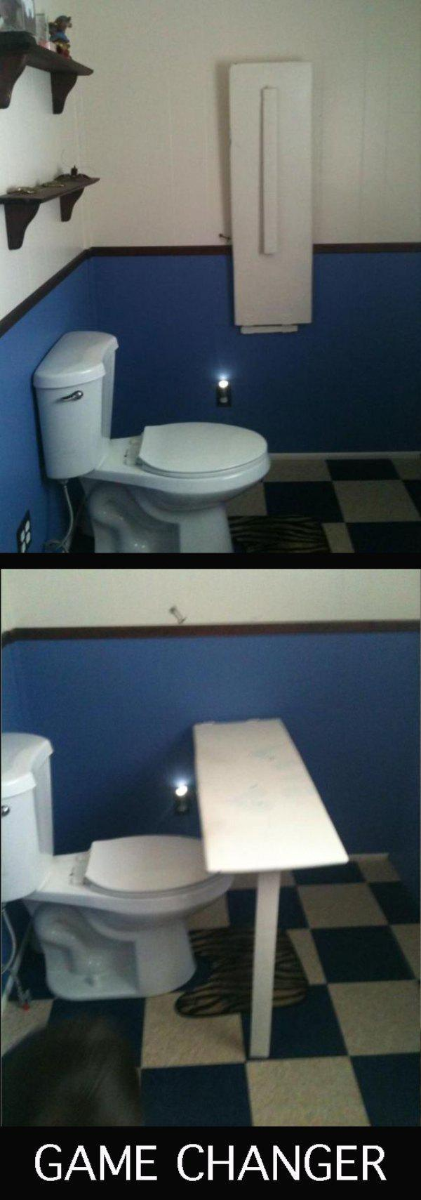 Tuvalet için çalışma masası