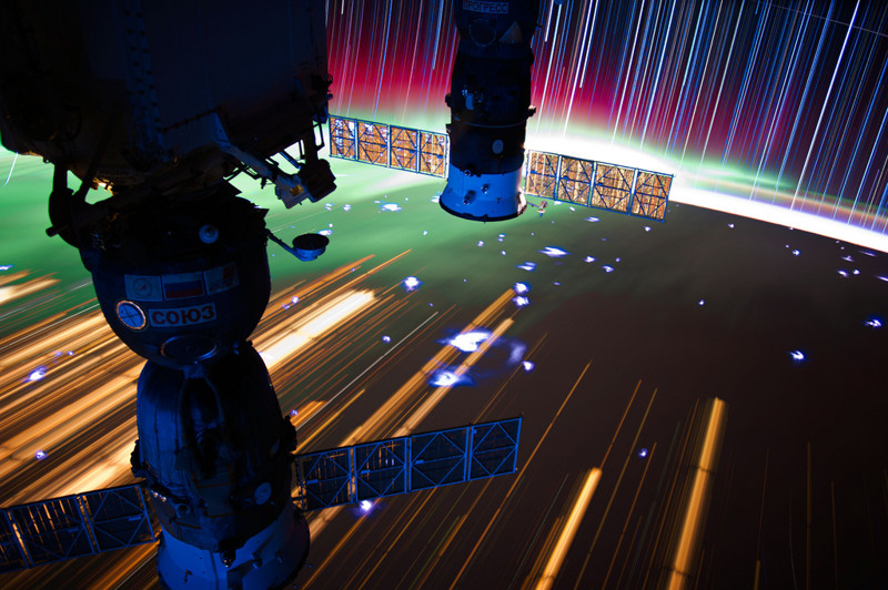 ISS Star Trails Uzay Fotoğrafları