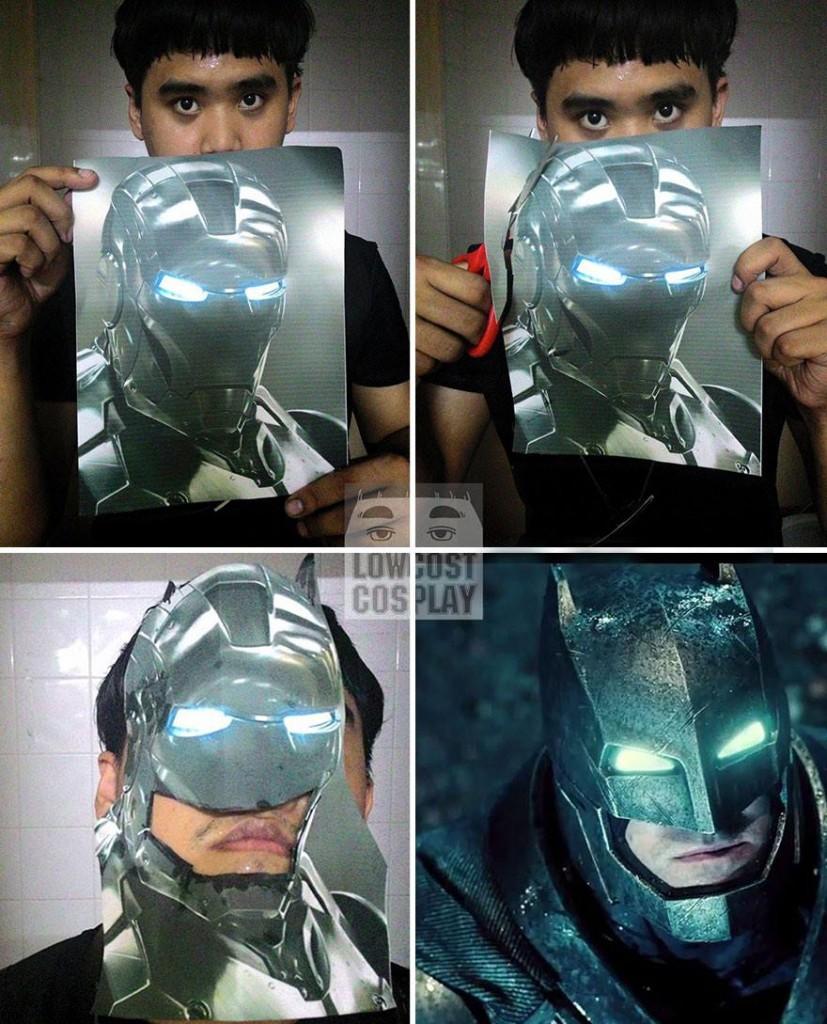 Batman i taklit etmeye çalışan insan