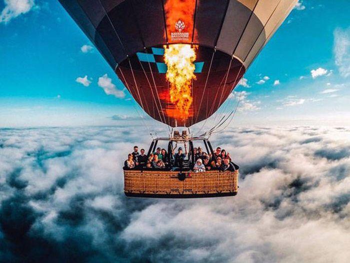 Balon ile dünyanın en tepesine çıkmak
