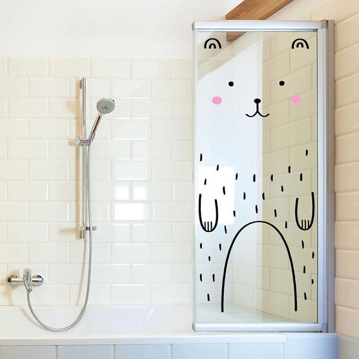 Banyo Camı için Sticker