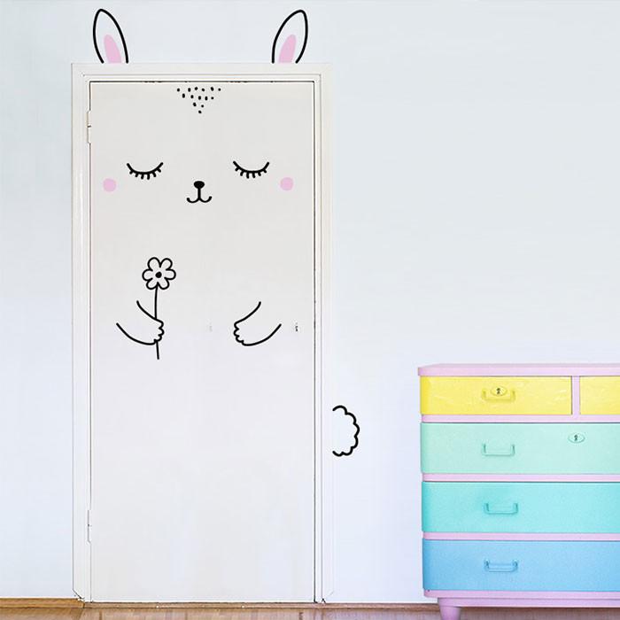Kapınız için Tavşan Sticker