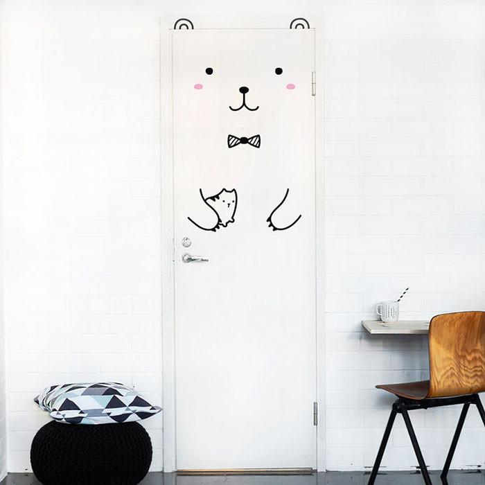 Kapınız için Eğlenceli Sticker