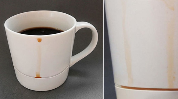 Akıtmaya Karşılıklı Korumalı Kahve Bardağı