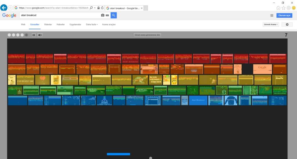 Canın Sıkılınca Google Sana Oyun Açsın. Atari Breakout