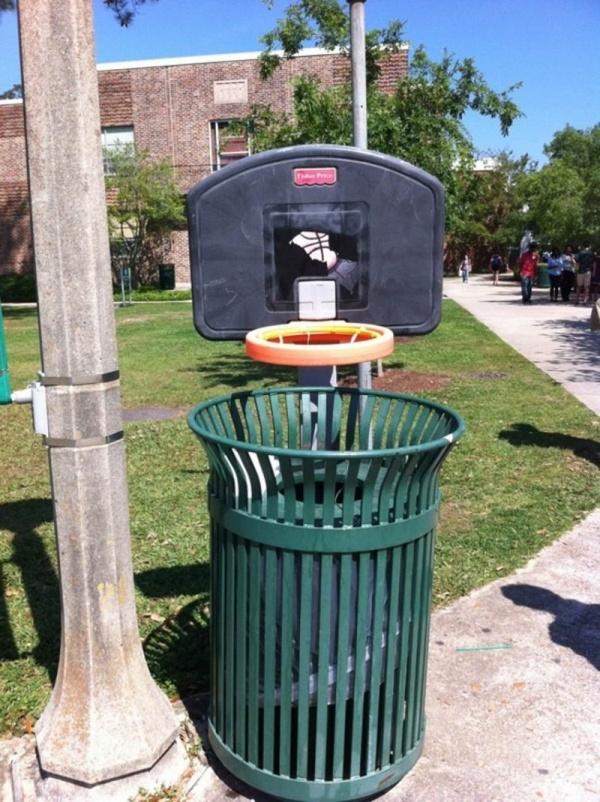 Çöp Kutusunu Basket Potasına Çevirmek