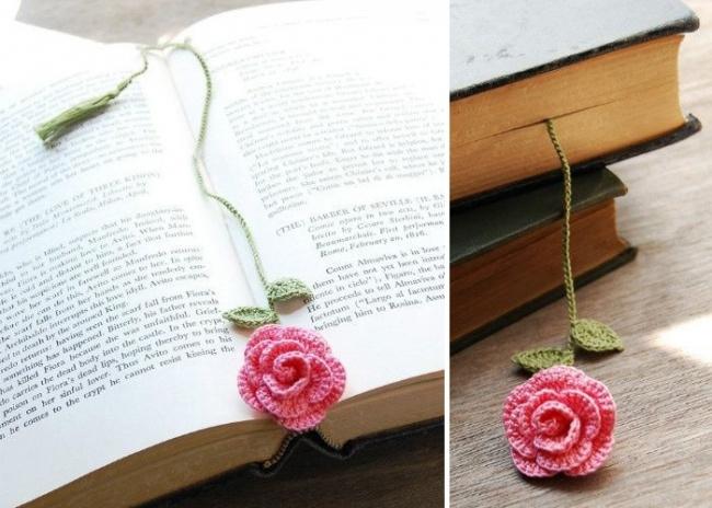 Çiçek Şeklinde Kitap Ayracı