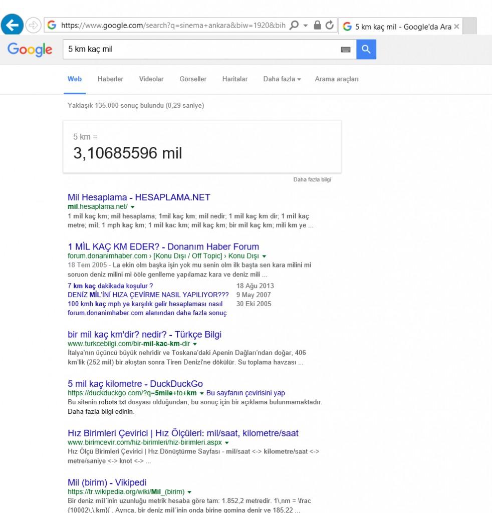 Google Çeviri ile İstediğiniz değeri istediğiniz değere çevirebilirsiniz.