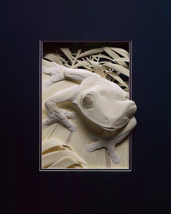 CALVIN NICHOLLS Kağıttan Kurbağa Heykeli