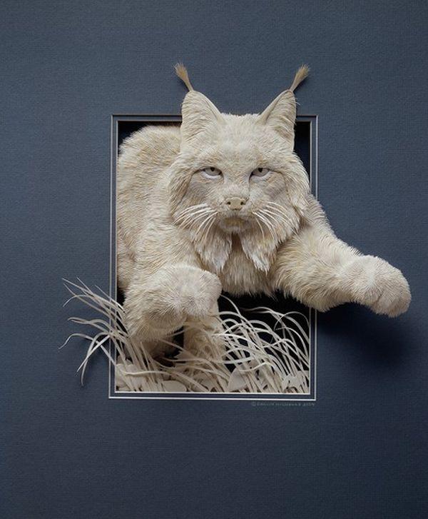 CALVIN NICHOLLS Kağıttan Kedi Heykeli
