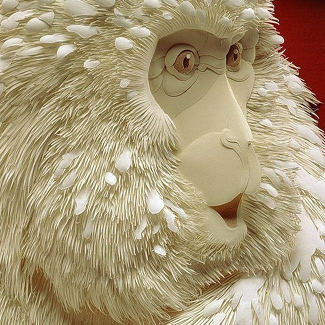 CALVIN NICHOLLS Kağıttan Maymun Heykeli