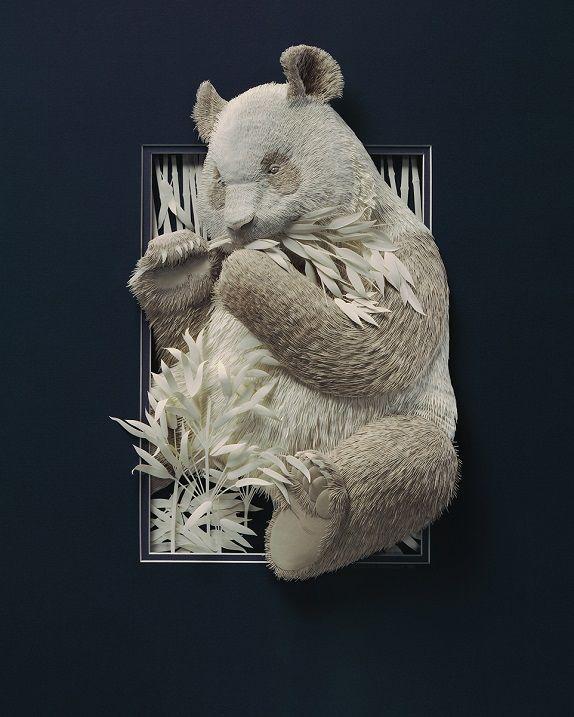 CALVIN NICHOLLS Kağıttan Panda Heykeli