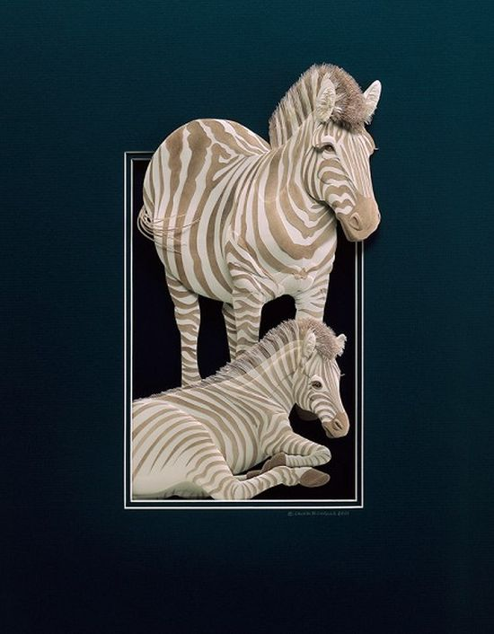 CALVIN NICHOLLS Kağıttan Zebra Heykeli