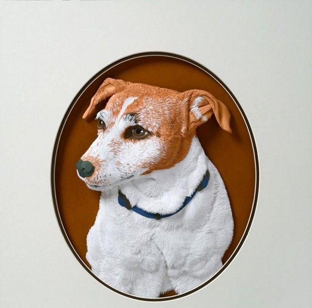 CALVIN NICHOLLS Kağıttan Köpek Heykeli