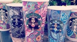 Sanatsal Starbucks Bardakları