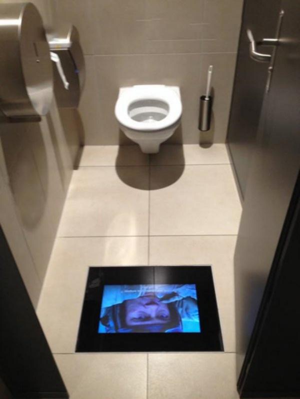 Tuvalette Televizyon Keyfi