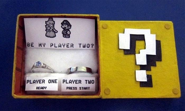 Super Mario Evlilik Yüzükleri