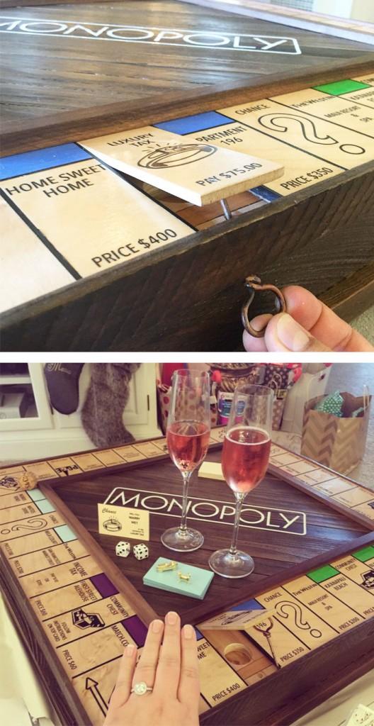 Monopoly Yüzük Kutusu Evlilik Teklifi