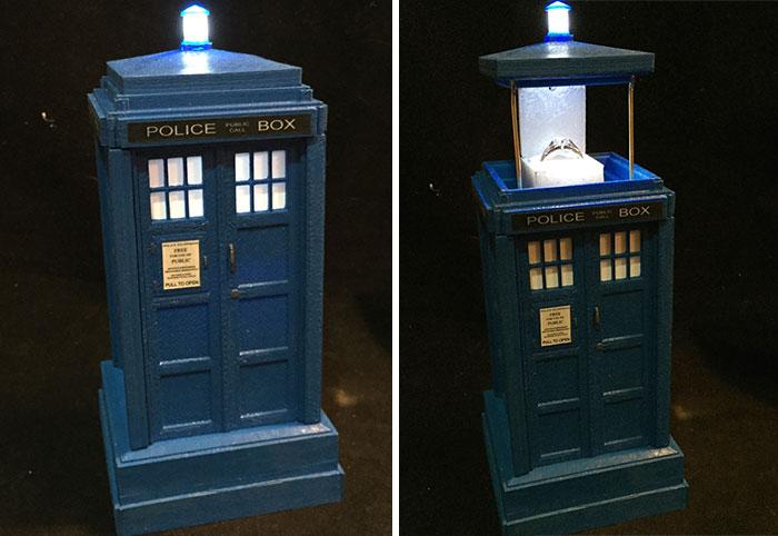 Doktor Who Tardis Yüzük Kutusu