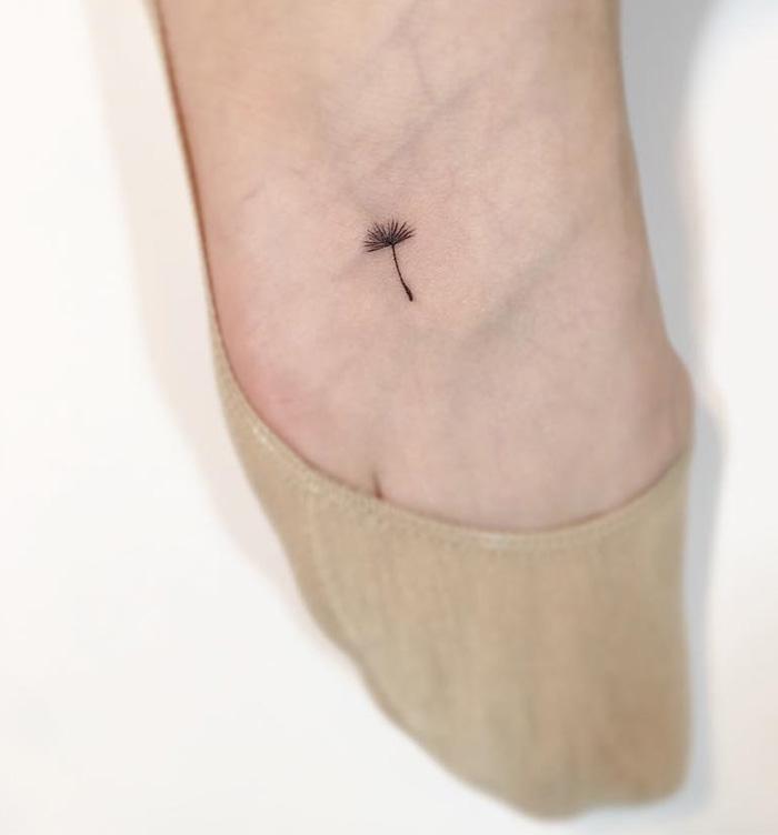 İlk Dövmeniz İçin Birbirinden Yaratıcı 56 Minimal Dövme - www.dergikafasi.com Ayağın Üstüne Dövme Çiçek