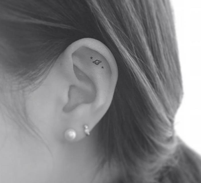 Kulak İçerisine Dövme