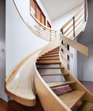 Ahşap Merdiven Tasarım 2019 Kaydırak