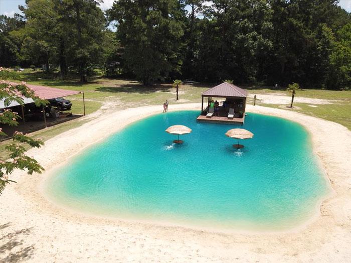 evinin bahçesine maldiv havuzu zydeco